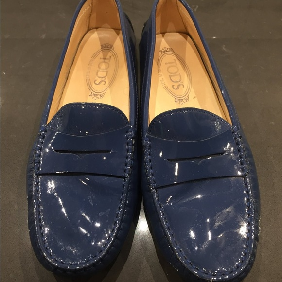 TODs 'Gommini' Patent Leather Driving Moccasin